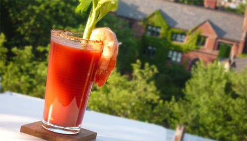 This Bloody Mary is best enjoyed outdoors ...