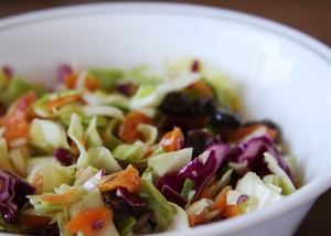Colorful cole slaw